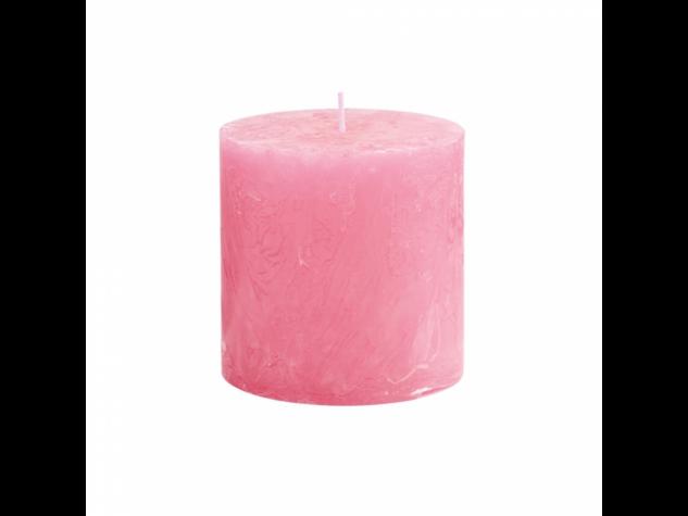 RUSTIC II. gyertya 10cm pink
