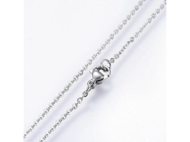 Szívecskés cirkónia kristályos acél nyaklánc