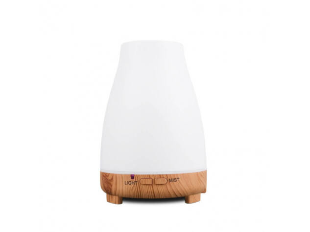 Aroma diffúzor + LED 120ml A023 fehér 7 színes LED világítás, USB újratölthető