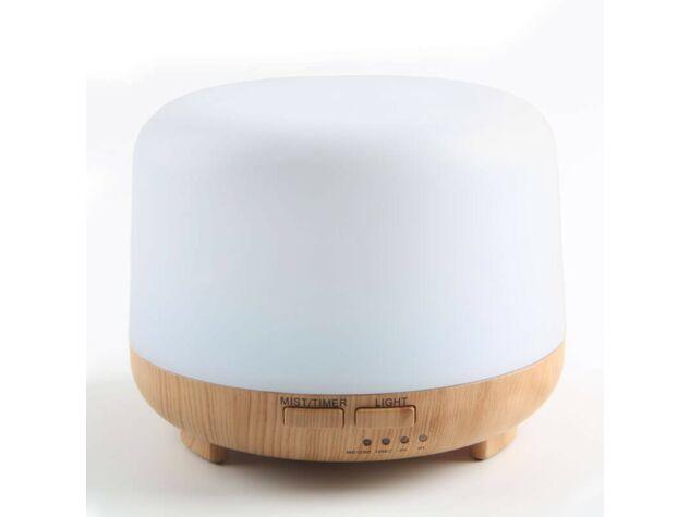 Aroma diffúzor + LED 300ml A020 fehér 7 színes LED világítás, USB újratölthető