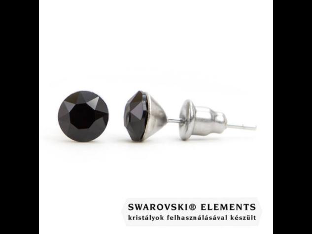 Jazzy fekete Swarovski® kristályos fülbevaló