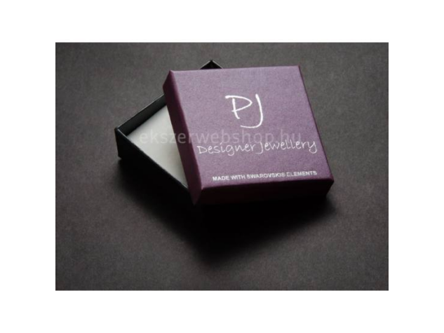 Swarovski® kristályos ékszerszett - Helios 20 mm, Indicolite + díszdoboz