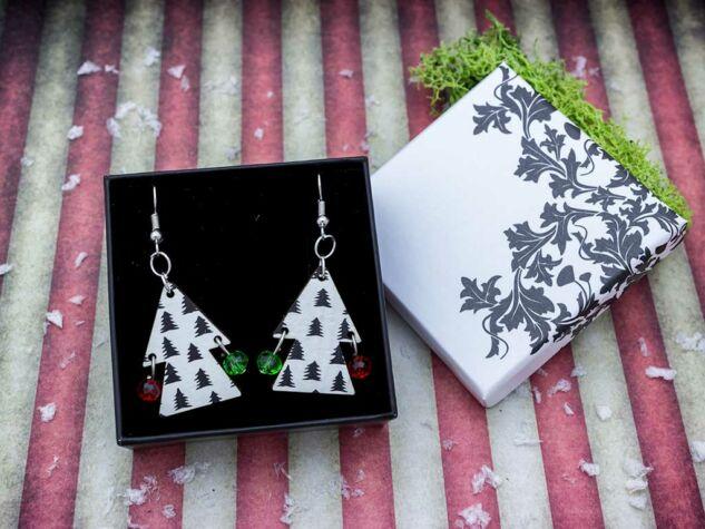 Kiskarácsony nagykarácsony falemez fülbevaló