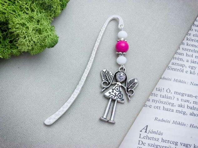 Rózsaszín angyal könyvjelző