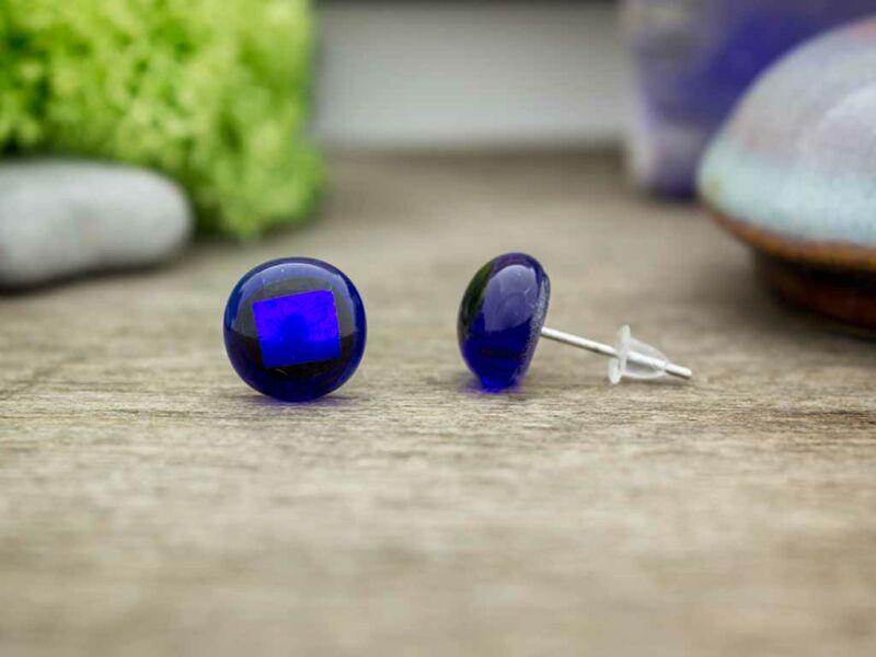 új dizájn alacsony költségű elismert márkák Kék éjszaka üveg fülbevaló