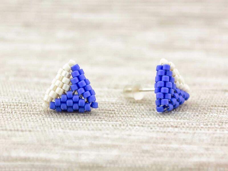 Gyöngyös háromszög fülbevaló