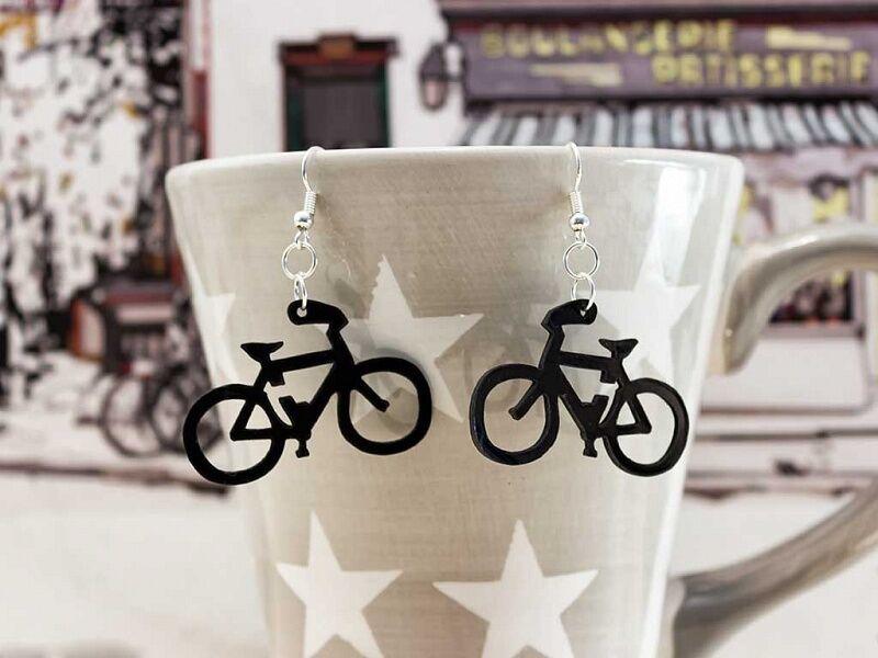 Bicikli bakelit fülbevaló