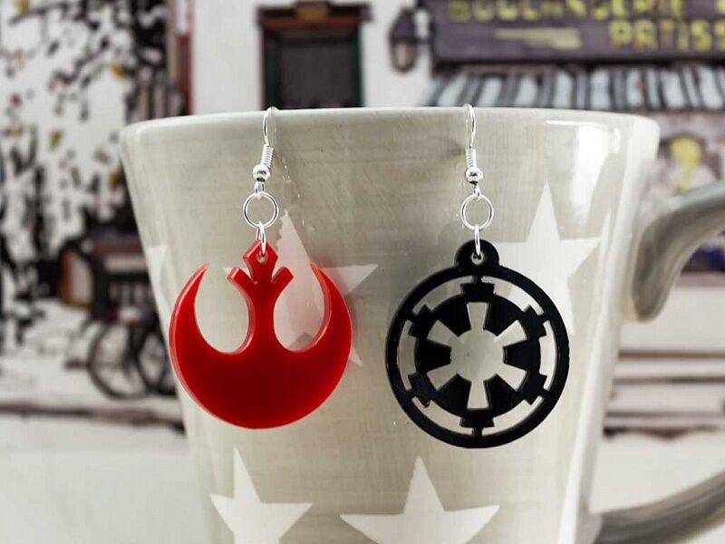 Star Wars csillagok háborúja plexi fülbevaló