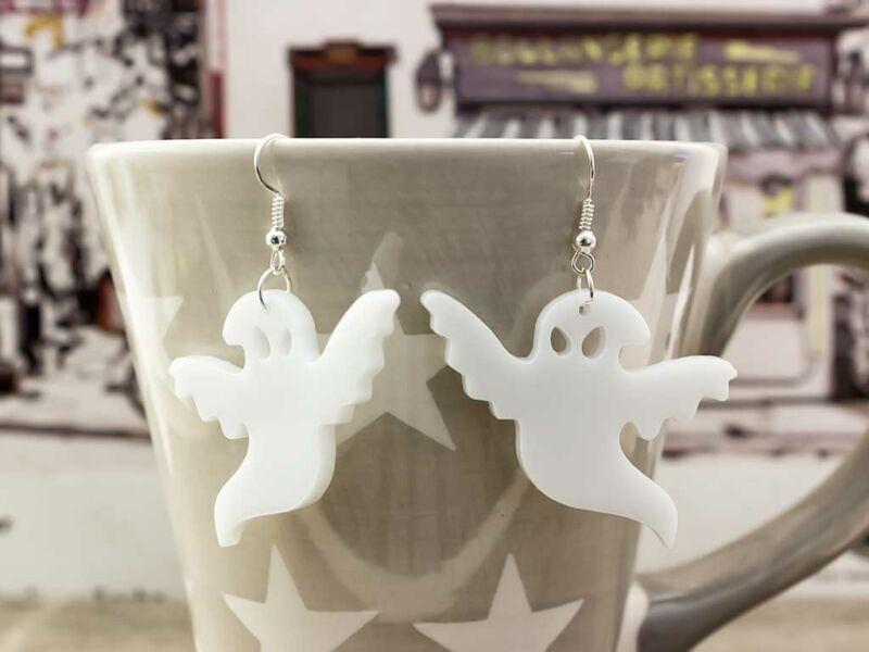 Halloween szellem plexi fülbevaló