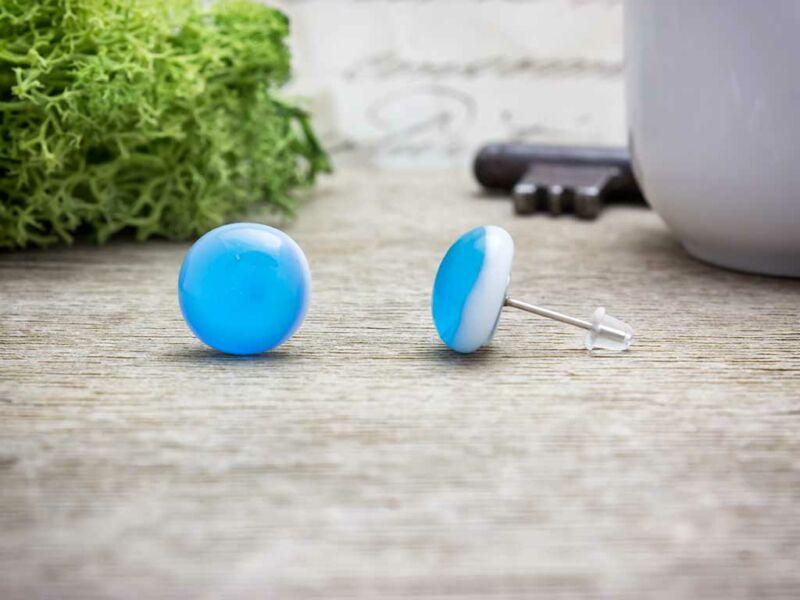 minőségi termékek költség varázsa uk áruház Kék fülbevaló üveg