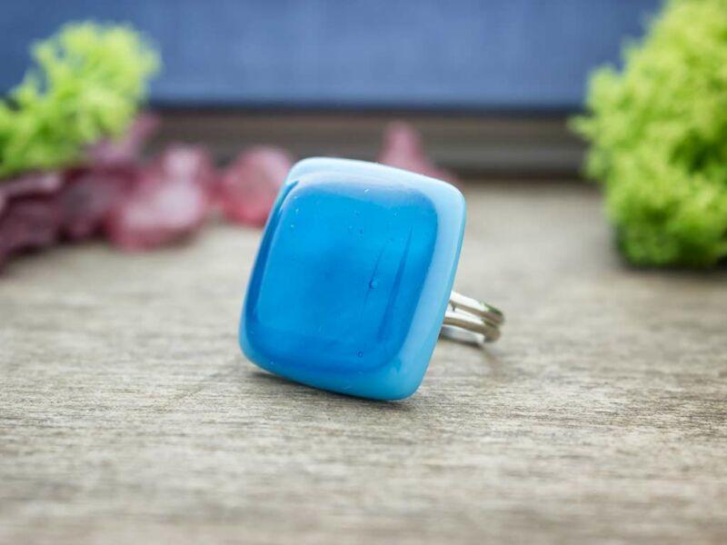 Kék a kékben üveg gyűrű
