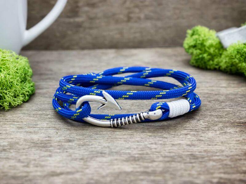 Kék hydra paracord karkötő
