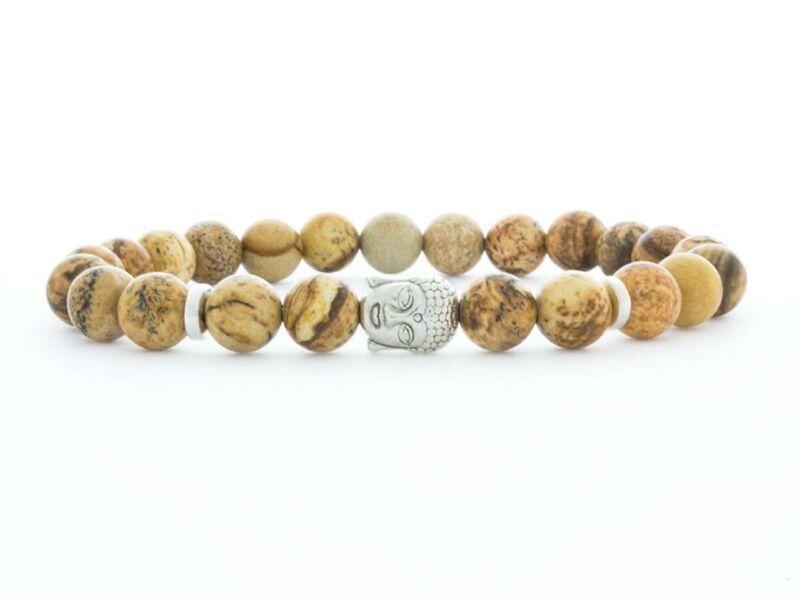 Jáspis Buddha ásvány karkötő
