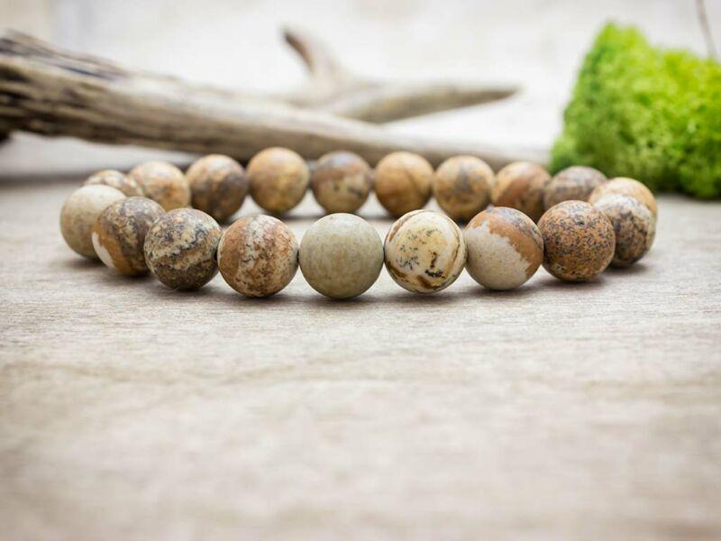 Régi hagyomány tájképjáspis ásvány karkötő