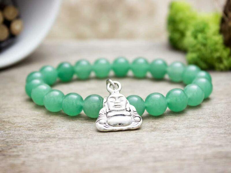 Aventurin karkötő Budha medállal
