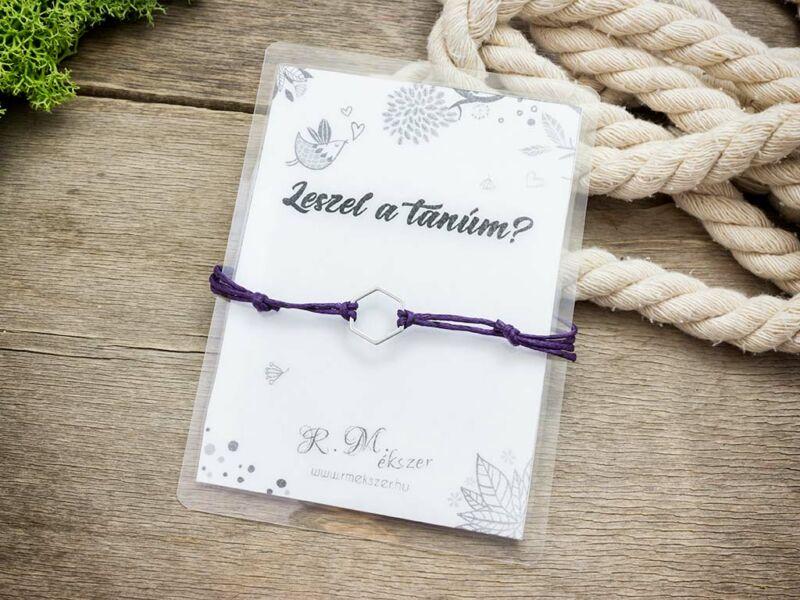 Leszel a tanúm lila kívánság karkötő