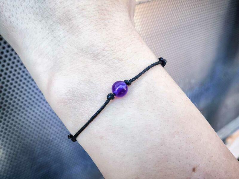 Pöttöm harmónia lila jáde ásvány karkötő