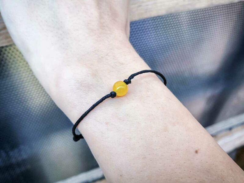 Pöttöm harmónia sárga jáde ásvány karkötő