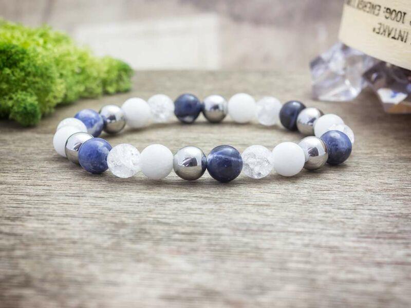 Kék vitalitás vegyes ásvány karkötő