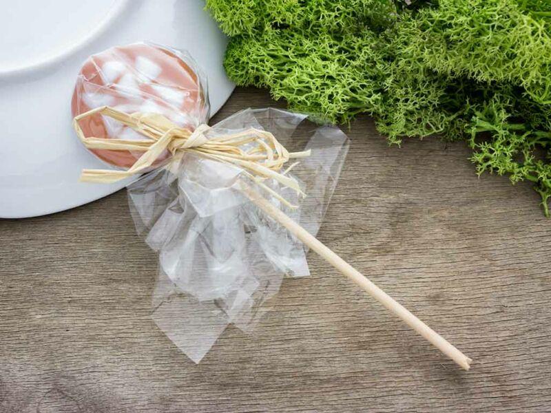 Karamellás cukor nyalóka üveg medál