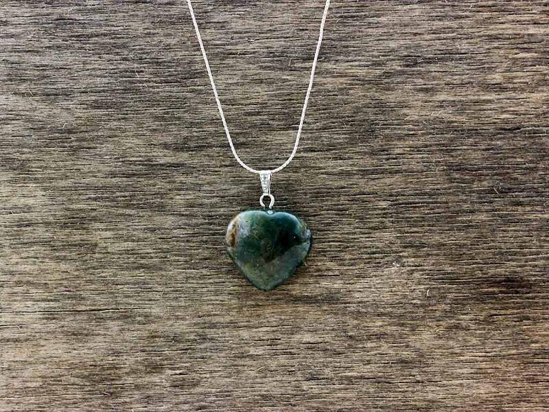 Mohaachát szív ásvány medál