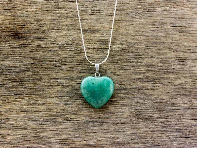 Aventurin szív ásvány medál