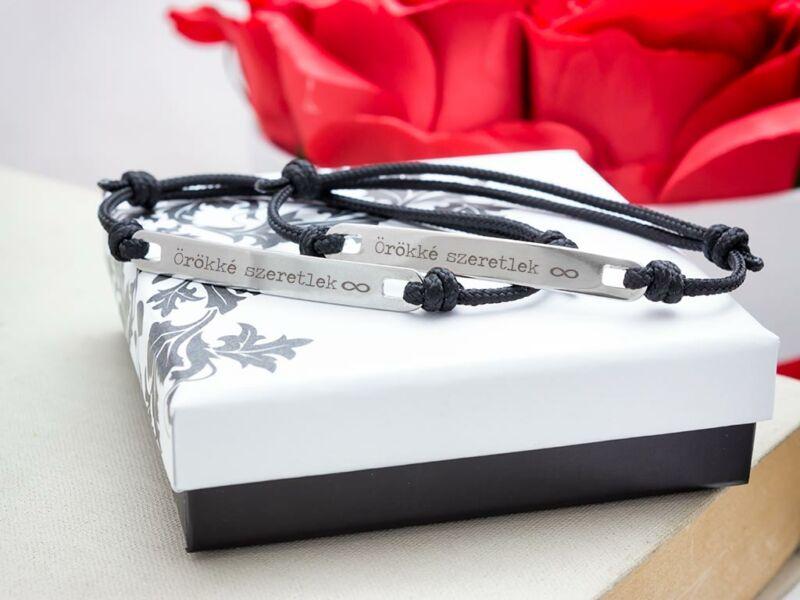 Örökké szeretlek microcord páros karkötők